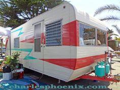 Charles Phoenix . Painted trailer.