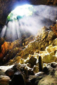 The blue lake cave at Bonito Brazil
