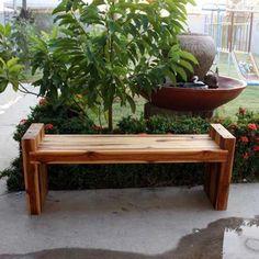 #bench teak wood #patiofurniture #outdoorliving