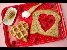 Waffle Heart Sandwiches: Healthy Valentine's Day Desserts - Weelicious healthi valentin, sandwiches, valentine day, food, heart sandwich, waffl heart, lunch, waffle iron, dessert