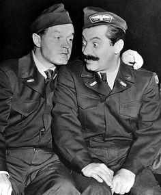 Bob Hope, Jerry Colonna during a World War II USO tour