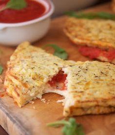 The Proverbs 31 Daughter: Trim Healthy Mama ~ Cauliflower Crust Calzone