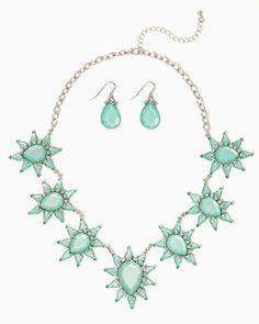 Star Flower Necklace Set #CharmingCharlie #MintCondition #CCStyle #ColorMeFabulous