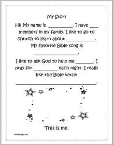 Testimony sheet for children