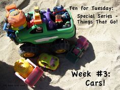 great ideas and activities on cars, trucks, etc from The Good Long Road #preschool