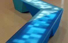 Interactive lighting bench