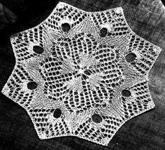 Free Knitting Pattern: Lace Doily
