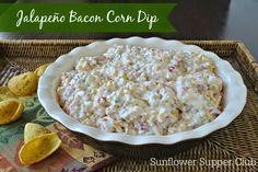 Sunflower Supper Club: Jalapeño Bacon Corn Dip