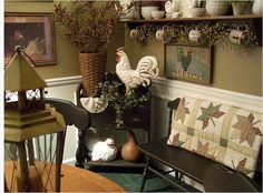 Fall dining room - umbrella basket