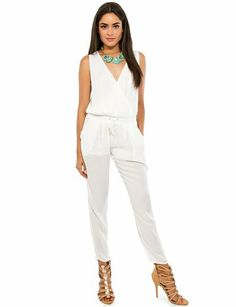 Sexy Clothes Womens Sexy Dresses Sexy Clubwear Sexy Swimwear | Flirt Catalog, Walking on Air Jumpsuit, white, Bottoms, VP70237