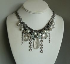 pearl, necklac, crystal