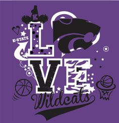 K-State University Wildcats Love  Shirt