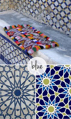 moroccan tiles by the style files, via Flickr