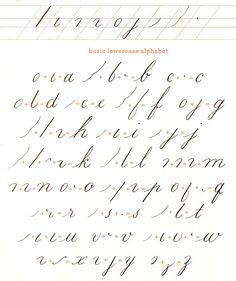 Learning how to write in calligraphy is in many ways similar to learning how to draw. In drawing, you first have to master shapes. With calligraphy, the idea is to first master the basic strokes. Combinations of these nine pen strokes make most of the letters in the lowercase alphabet.