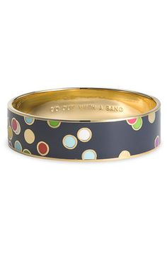 'go out with a bang' medium enamel bangle