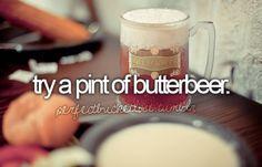 harri potter, bucketlist, beer, pint, drink, universal studios, butterb, harry potter theme, bucket lists