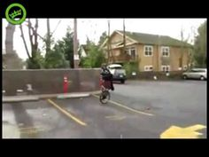 """Darth Vader In A Kilt On A Unicycle Playing Bagpipes.  Did you know the playing of bagpipes was originally intended to frighten and intimidate the enemy before battle?  This guy might work better than a """"Keep of the grass"""" sign.  And the video is dang funny."""
