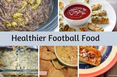 Over 20 Healthier  Football Foods all with PointsPlus and nutritional info