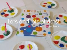 "Art Lesson to go along with the book ""Lots of Dots"" by Craig Frazier."