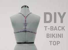 DIY tie back bikini. http://blog.swell.com/womens-style/diy-t-back-bikini-top/