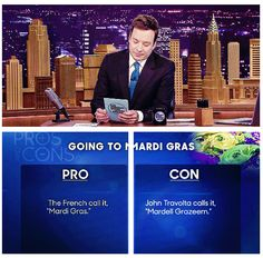 Jimmy Fallon's Pros and Cons of going to Mardi Gras
