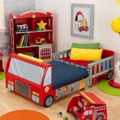 Fire Truck Toddler Bed.