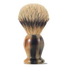 gift, shave horn, art, brushes, shave brush, fine brush, brush handl, badger shave, horn brush