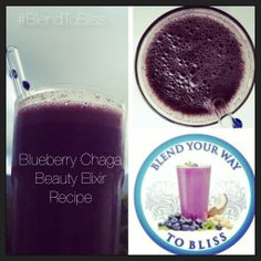 Blueberry Chaga Beauty Elixir! #superfoods #blendyourwaytobliss #nextlevel #selfcare #radianthealth #rawfoods