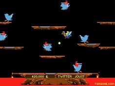Before Twitter, I was following birds to Joust! Do you remember the classic video game Joust made by Williams Electronics and released in 1982?