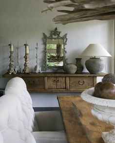 cottage interiors, idea, white decor, weathered wood, natural wood, hous, cabin decorating, rustic, design