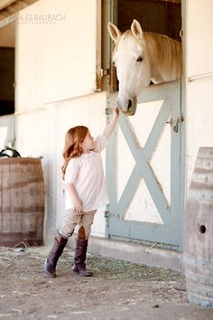 the outside of a horse is good for the inside of a girl <3