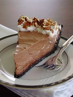 Mocha Frappe Pie - marshmallows, evaporated milk, coffee, chocolate, and cream! #vitamix Get FREE ground shipping on any blender purchase at Vitamix.com with code 06-006499