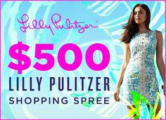 Click to enter to win a $500 @lillypulitzer shopping spree!