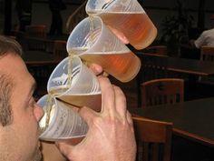Drinking beer - like a boss!