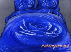#new #luxury #rose #bedding New Arrival Luxury Blue Rose Print 4 Piece Bedspreads and Duvet Cover Sets  Buy link==>http://goo.gl/aFps05 Live a better life, start with @beddinginn