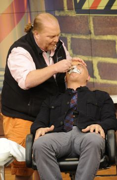 #Movember is over & Michael Symon shaved off his mustache! #TheChew500