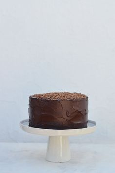 Chocolate Fudge Cake (with Chocolate Avocado Frosting)