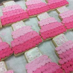 Bridal cake cookies