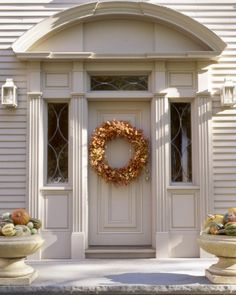 Autumn Wreath & urns