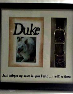 memory of my dog, Duke.  Check out how I did it at www.confessionsofalittlecraftroom.blogspot.com