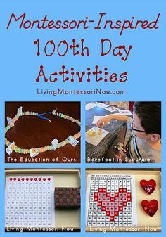 montessori method, craft, schools, 100th day, montessori inspired