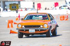 Joe Escobar's 1974 Ford Pinto on the @RideTech #autocross at the 2014 #OUSCI