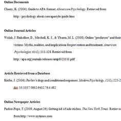 APA Citation Quick Links