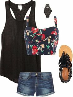 Casual Summer Outfit @Spencer Fornaciari Fornaciari Radonski summer outfits, bustier, closet, casual summer outfit, shoe