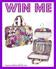 Win a Vera Bradley Hanging Travel Organizer!