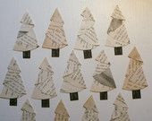 Vintage Paper Christmas Trees made from a circle