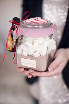 diy hot cocoa - love the mini on the side ;)