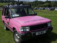 pink #LandRover Discovery