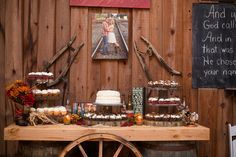 Real Weddings: Ashlei & Steven in Plant City, FL | Tiered cupcake stands, we have four of them.