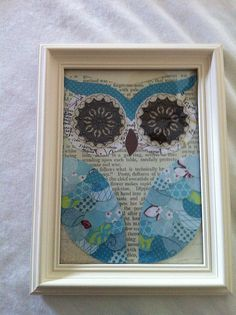scrapbook owl wall art. i love owls.